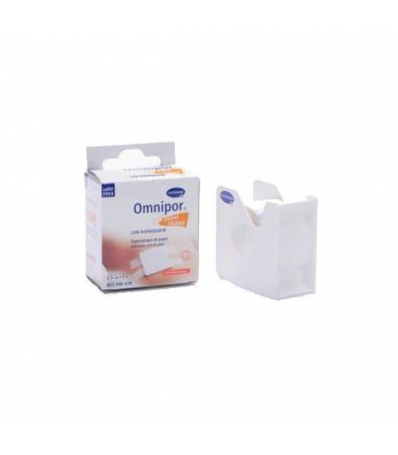 BOTIQUÍN - Omnipor Plus Esparadrapo de Papel 5m x 2,5 cm con Dispensador -