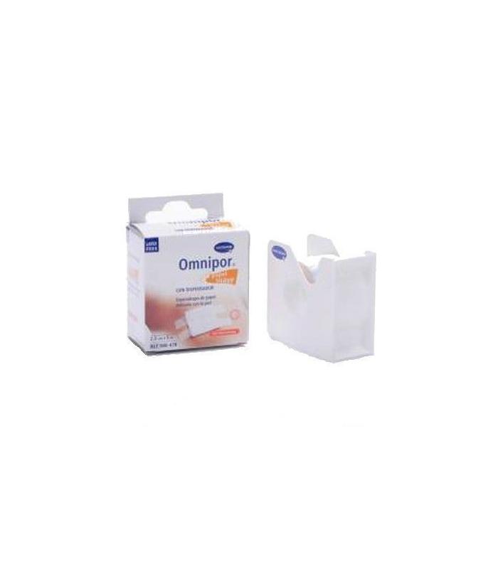 Omnipor Plus Esparadrapo de Papel 5m x 2,5 cm con Dispensador