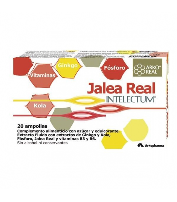 SUPLEMENTOS ALIMENTICIOS DE FARMACIA - Arkoreal Jalea Real Intelectum Con Fosforo 20 Ampollas -