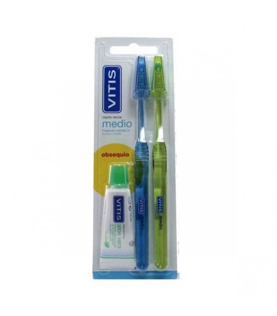 DENTAL - Vitis Cepillo Dental Medio Pack -