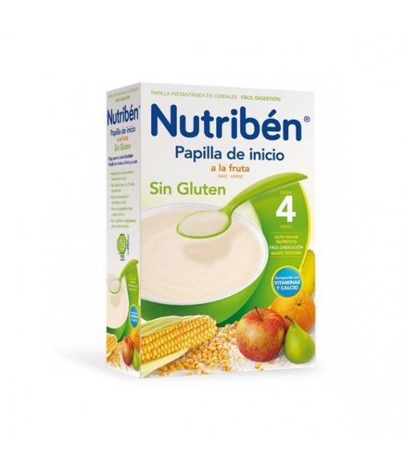 PAPILLAS - Nutriben Papilla Inicio A La Fruta Sin Gluten 300 Gramos -