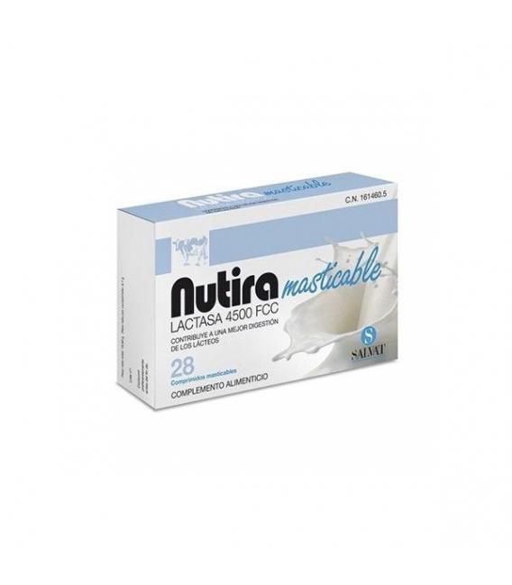 PRODUCTOS DE HERBOLARIO ONLINE - Nutira Masticable Lactasa 28 Comprimidos Masticables -