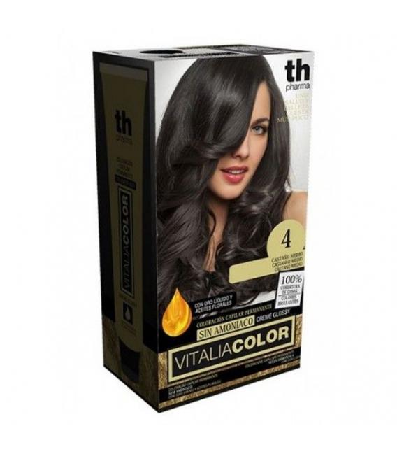 TINTES - Th Pharma Vitalia Color Tinte Nº 4 Sin Amoniaco Castaño Medio -