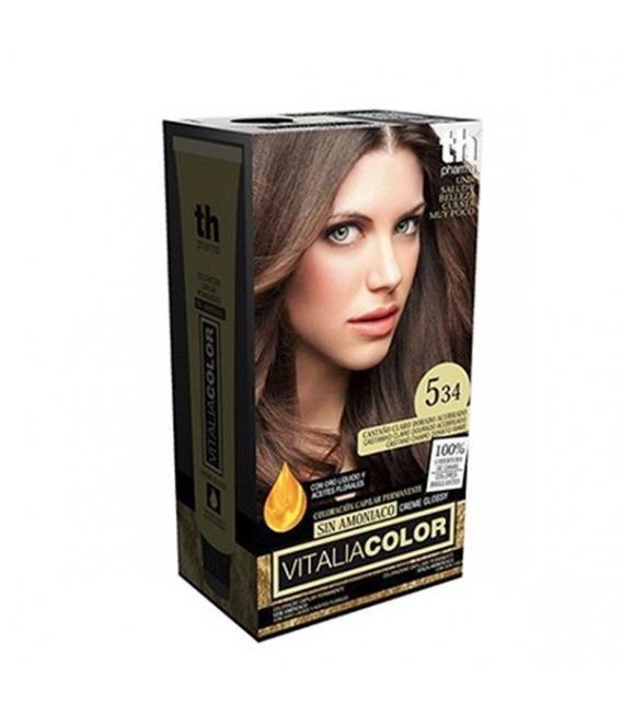TINTES - TH Pharma Vitalia Color Tinte Nº 5.34 Sin Amoniaco Castaño Claro Dorado Acobrado -