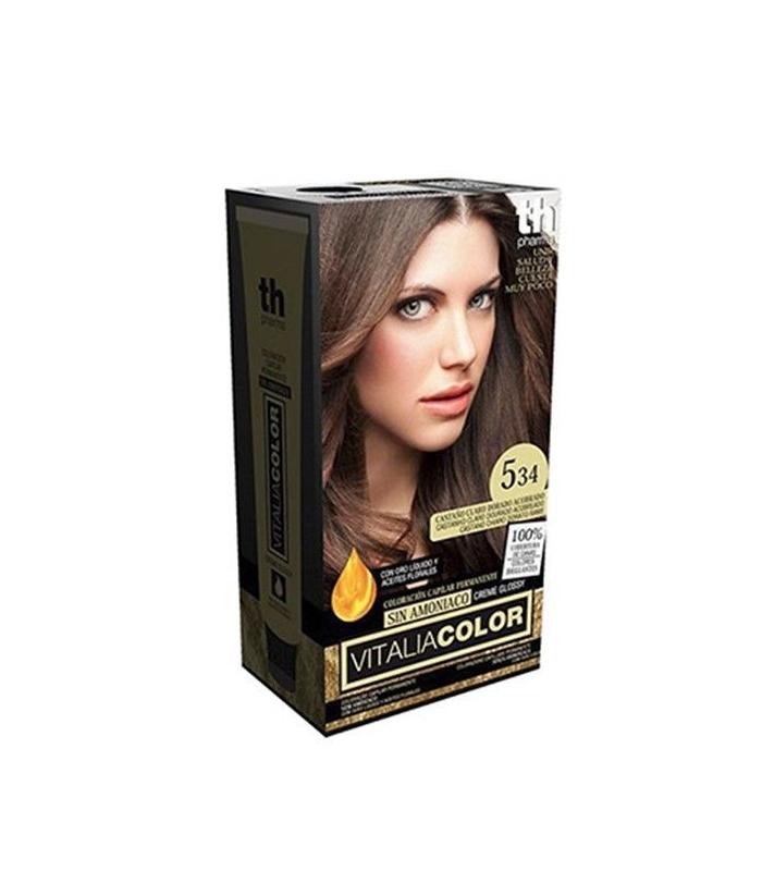 TH Pharma Vitalia Color Tinte Nº 5.34 Sin Amoniaco Castaño Claro Dorado Acobrado