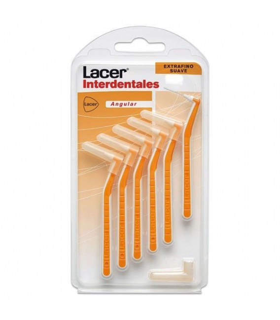 DENTAL - Lacer Cepillo Interdent Extrafino angular suave 6 uds -