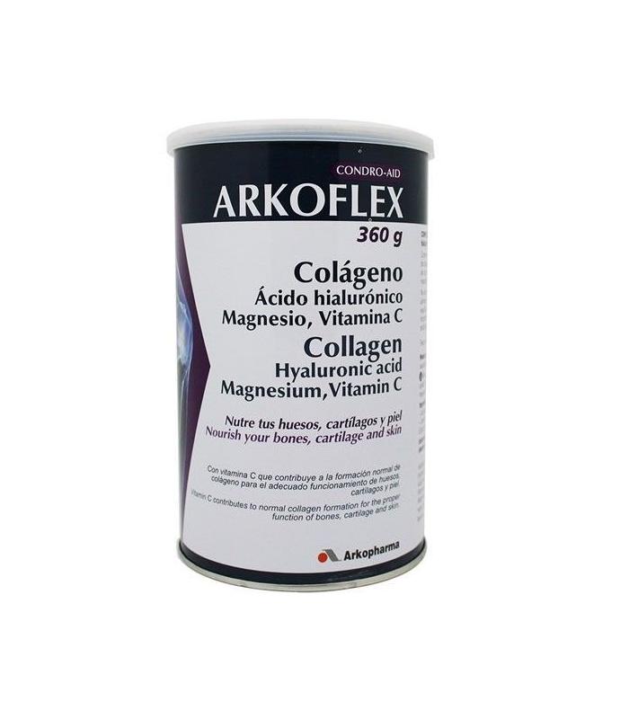 HUESOS Y ARTICULACIONES - Arkoflex Colageno + Ac. Hialuronico + Magnesio + Vitamina C Sabor Limón 360 g -