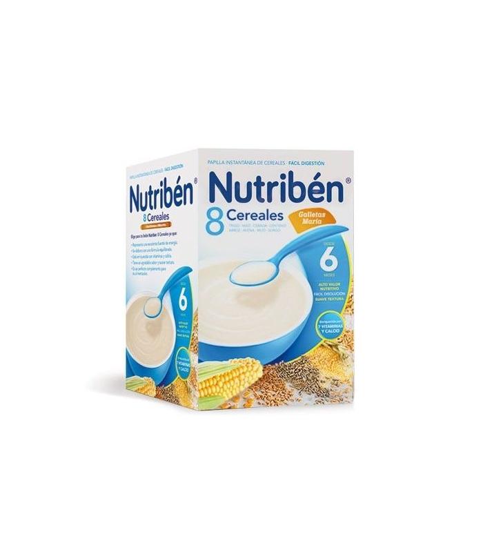 PAPILLAS - Nutriben Papilla 8 Cereales Galletas Maria 600 Gramos -