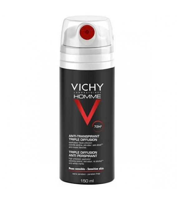 DESODORANTES - Vichy Homme Desodorante Spray Triple Difusion 150 ml -