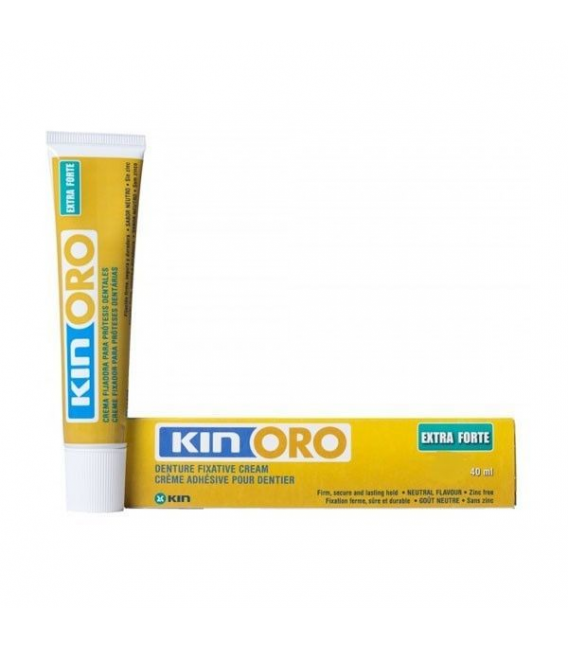 PRÓTESIS DENTALES - Kin Oro Crema Fijadora Extra Forte 75 ML -