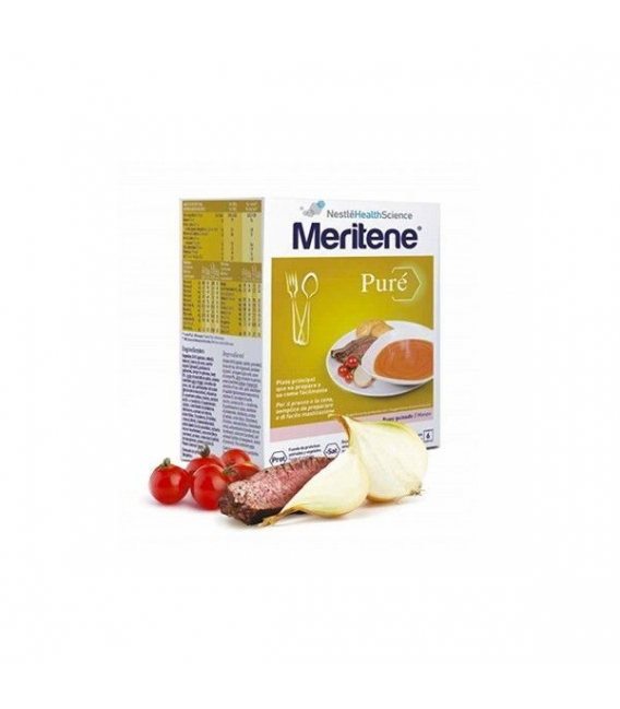 SUPLEMENTOS ALIMENTICIOS DE FARMACIA - Meritene Puré Buey Guisado 6 sobres 75 gr -