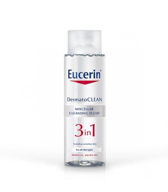 LIMPIADORAS - Eucerin Dermatoclean 3en1 Solución Micelar Limpiadora 400mll -