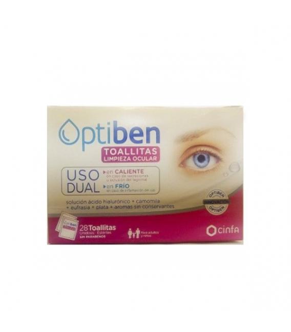 TOALLITAS - Optiben Toallitas Oculares Uso Dual 28Ud -