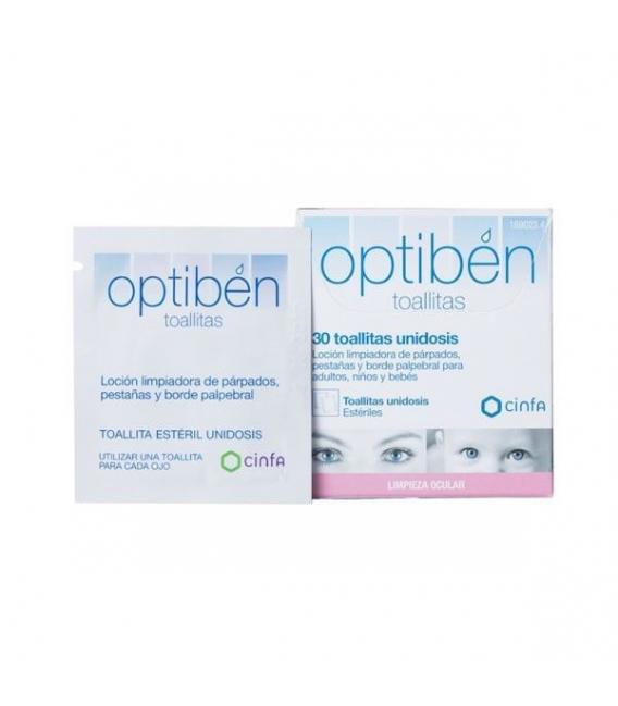 PRODUCTOS DE ÓPTICA DE FARMACIA ONLINE - Optiben Toallitas Ocular 30 Unidades -