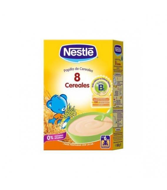 PAPILLAS - Nestle 8 Cereales Con Bifidus 600 Gramos -