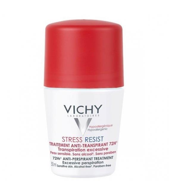 DESODORANTES - Vichy desodorante Stress Resist Tratamiento Intensivo Antitraspirante 72h 30 ml -
