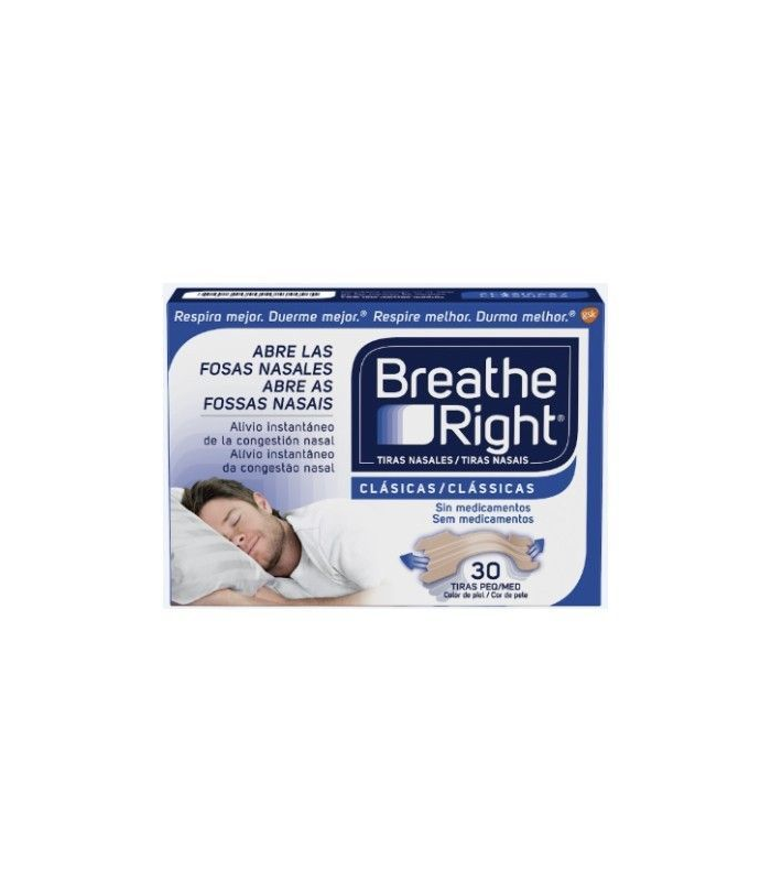 NASAL - Breathe Right Tira Nasal Clasica 30 uds -