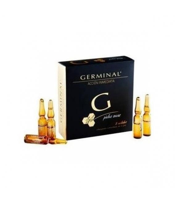ANTIARRUGAS - Germinal Ampollas Flash Piel Seca 5 Ampollas -