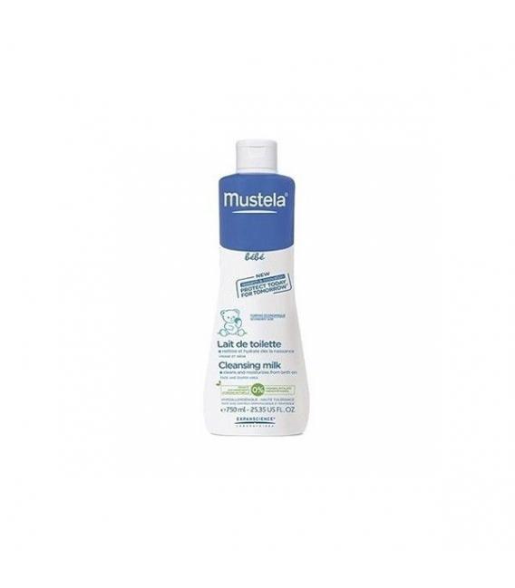 PIEL DEL BEBÉ - Mustela Locion limpiadora - Cleasing milk 750 Ml -