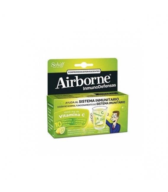 VITAMINAS - Airborne Defensas Sabor Lima Limón 10 Compr.Efervescentes -