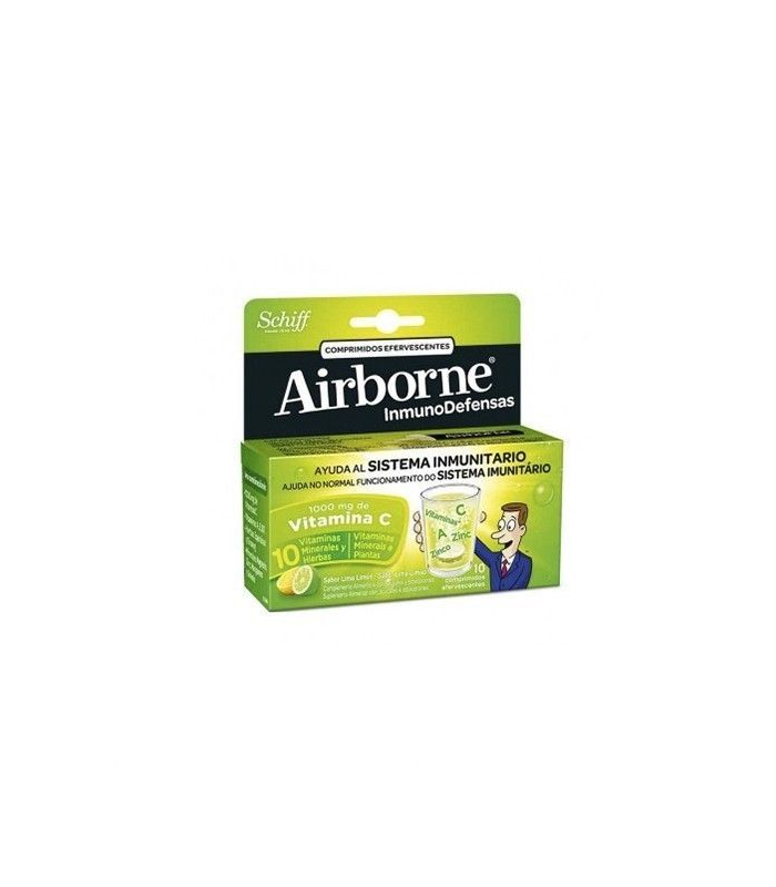 Airborne Defensas Sabor Lima Limón 10 Compr.Efervescentes