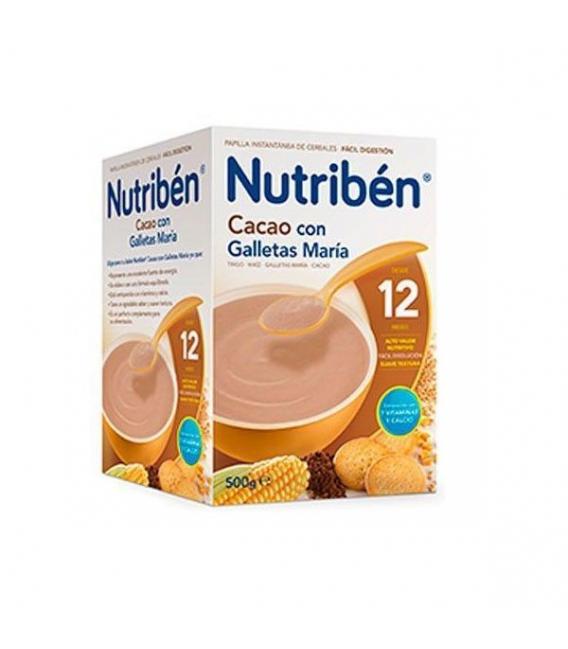 PAPILLAS - Nutriben Cacao Con Galletas Maria 500 Gramos -