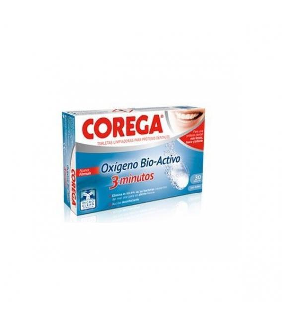 PRÓTESIS DENTALES - Corega Oxigeno Bio-Activo 30 Tabletas Efervescentes -