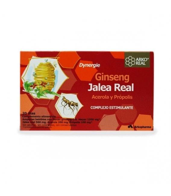 DEFENSAS - Arkopharma Ginseng + Jalea Real + Acerola + Propolis 20 Ampollas -