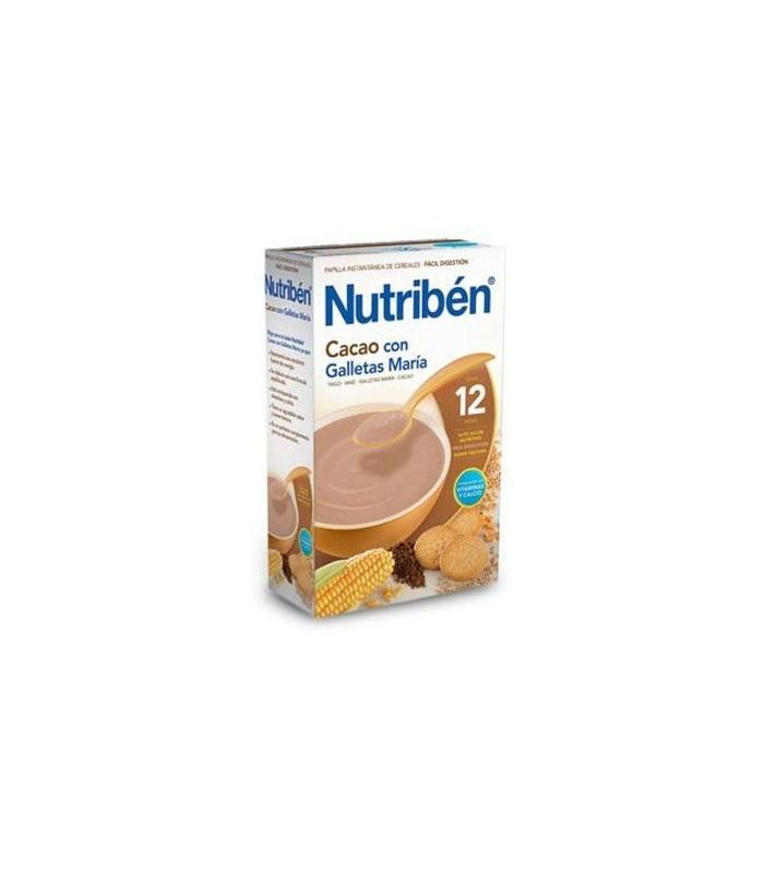 REGALOS PARA BEBÉS Y EMBARAZADAS - Nutriben Papilla Cacao Con Galletas Maria 600 Gramos -