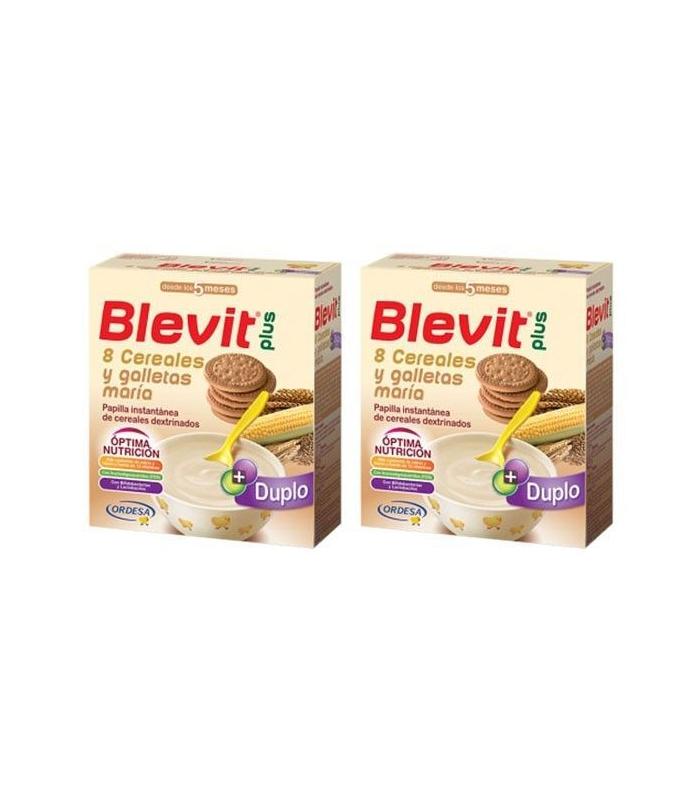 PAPILLAS - Blevit Plus Duplo 8 Cereales Y Galleta Maria 600 Gramos -