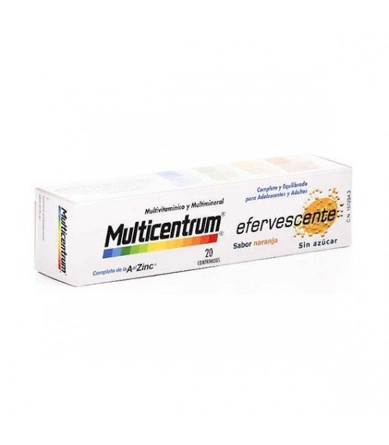 VITAMINAS - Multicentrum Efervescente 20 comprimidos Sabor naranja -