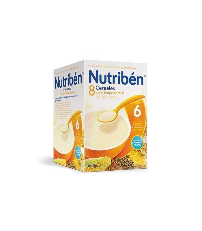 PAPILLAS - Nutriben 8 Cereales y Miel 600 Gramos -