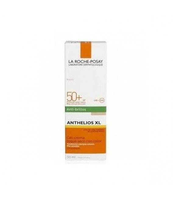 PROTECCIÓN FACIAL - La Roche Posay Anthelios XL Antibrillos Toque seco color Spf 50 50ml -