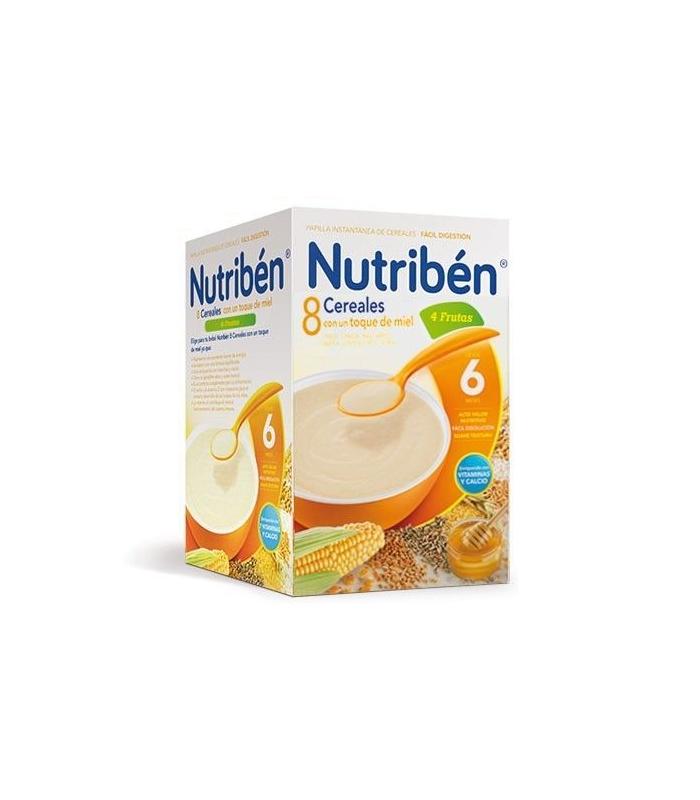 PAPILLAS - Nutriben 8 Cereales Con Miel y 4 Frutas 600 Gramos -