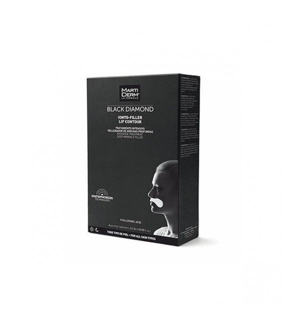 LABIOS - Martiderm Black Diamond Ionto-Filler Lip Contour 4 ml + 4 Parches -
