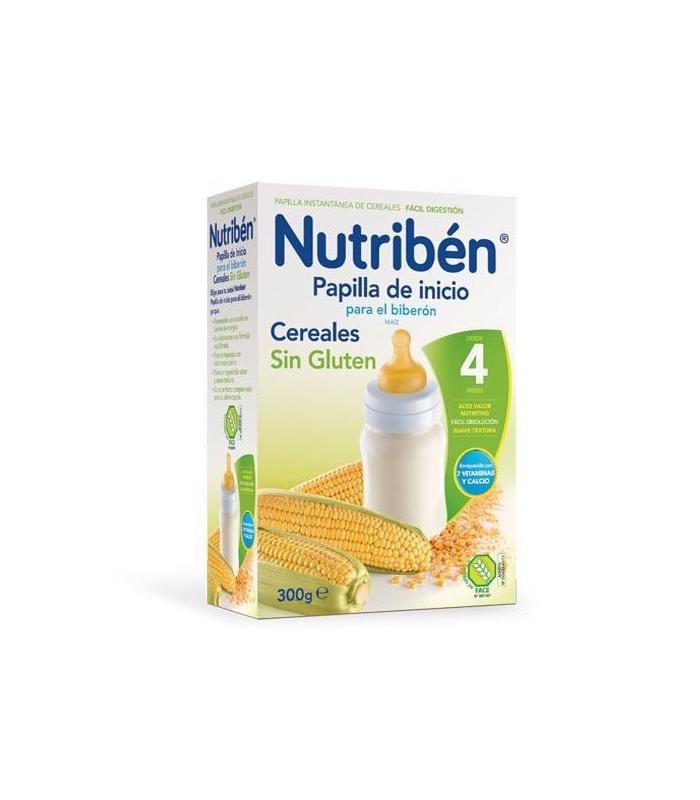 PAPILLAS - Nutriben Papilla Inicio Biberon Sin Gluten 300 Gramos -