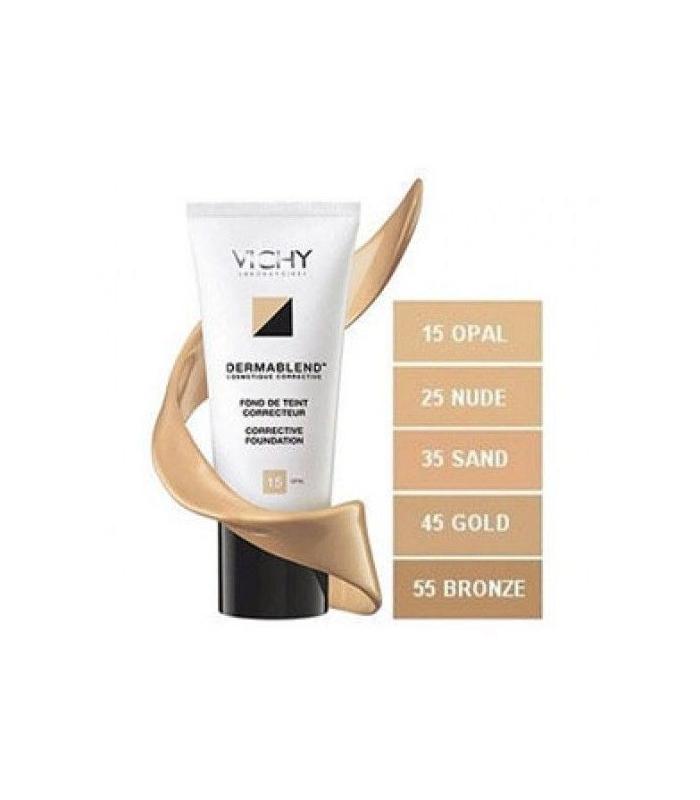MAQUILLAJE - Vichy Dermablend Fondo de Maquillaje Fluido 25 Nudel 30ml -