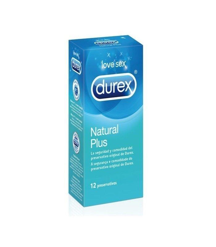 PRODUCTOS ÍNTIMOS - Durex Preservativos Natural Plus Easy-On 12 Unidades -