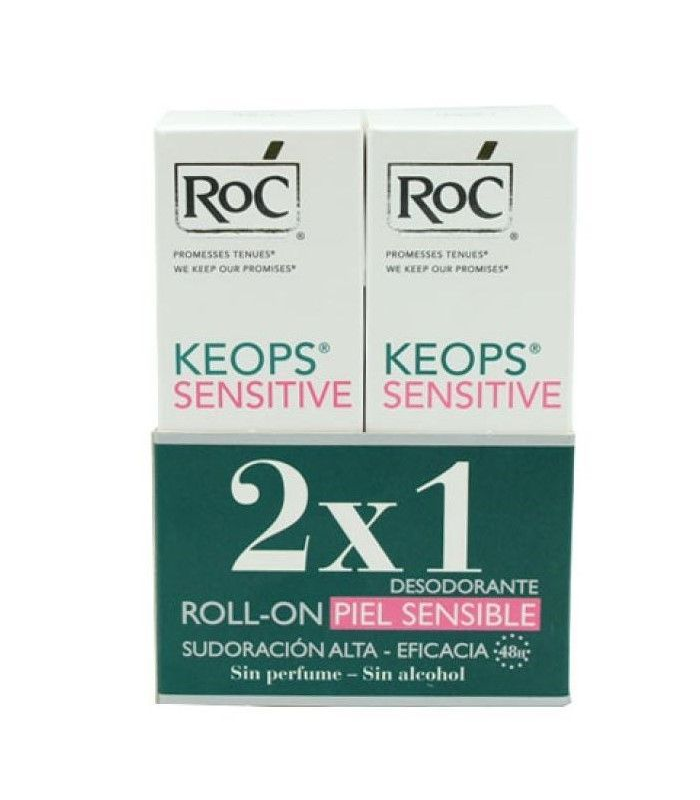 DESODORANTES - ROC DUPLO DESODORANTE KEOPS DERMOSEN (30 ML X 2) -