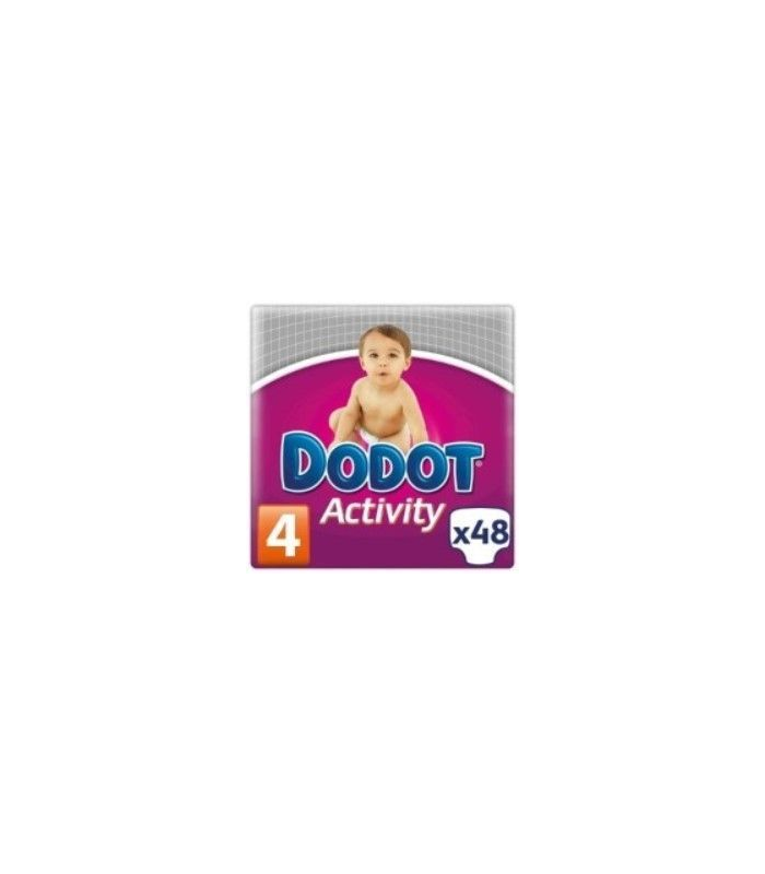 PAÑALES - PAÑAL DODOT ACTIVITY T/4 9-15 KG 48 UNIDADES -