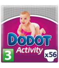 PAÑAL DODOT ACTIVITY T/3 4-10 KG 56 UNIDADES