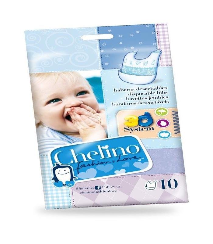 Accesorios de Bebé - BABERO DESECHABLE CHELINO FASHION&LOVE 10 UNIDADES -