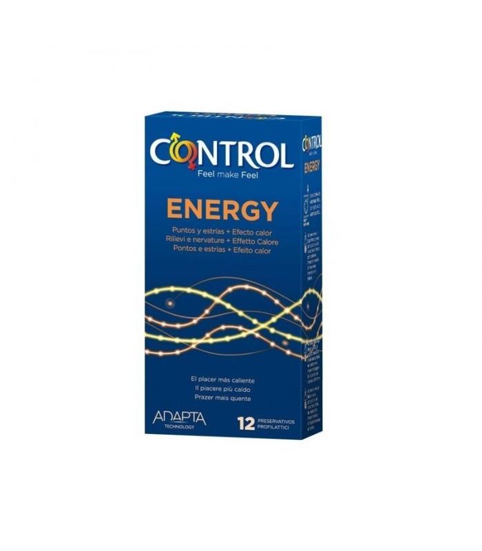 ANTICONCEPTIVOS - PRESERVATIVO CONTROL ADAPTA ENERGY 12 UNIDADES -