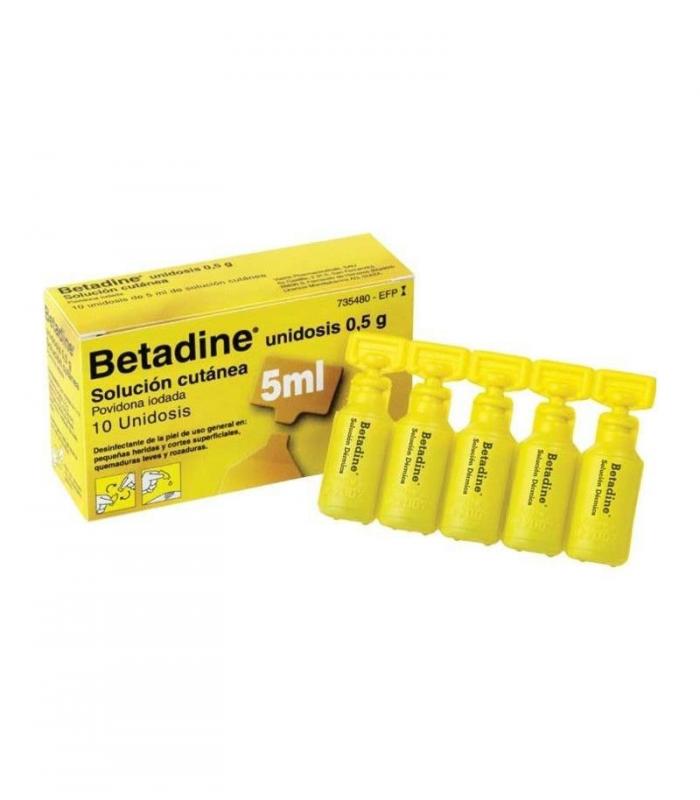 MEDICAMENTOS ONLINE - BETADINE SOLUCION CUTANEA UNIDOSIS 10X5 ML -