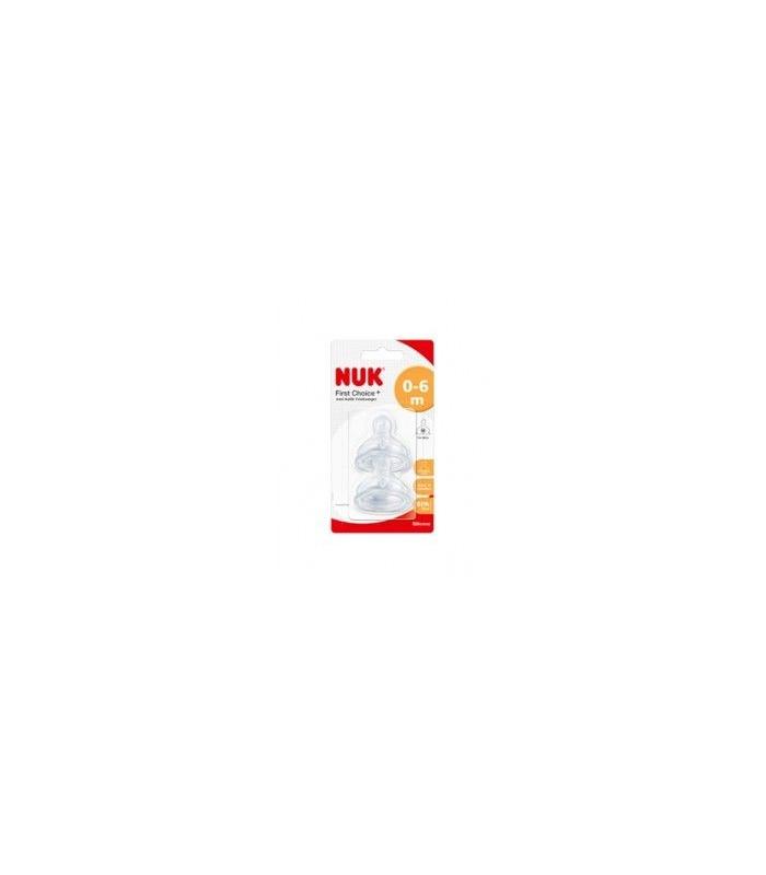 OUTLET FARMACIA - TETINA NUK BOCA ANCHA FC+ 1L SILICONA 2 UDS 0-6 MESES -