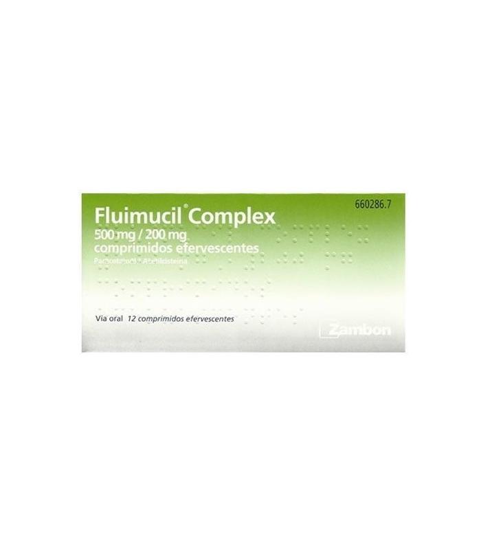 MEDICAMENTOS ONLINE - FLUIMUCIL COMPLEX 500/200 MG 12 COMPRIMIDOS EFERVESCENTES -