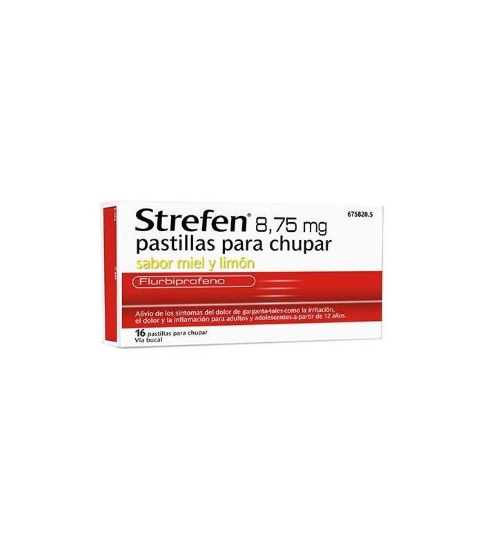 MEDICAMENTOS ONLINE - STREFEN 8.75 MG 16 PASTILLAS PARA CHUPAR MIEL Y LIMON -