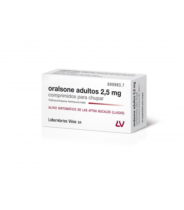 MEDICAMENTOS ONLINE - ORALSONE ADULTOS 2.5 MG 12 COMPRIMIDOS PARA CHUPAR -