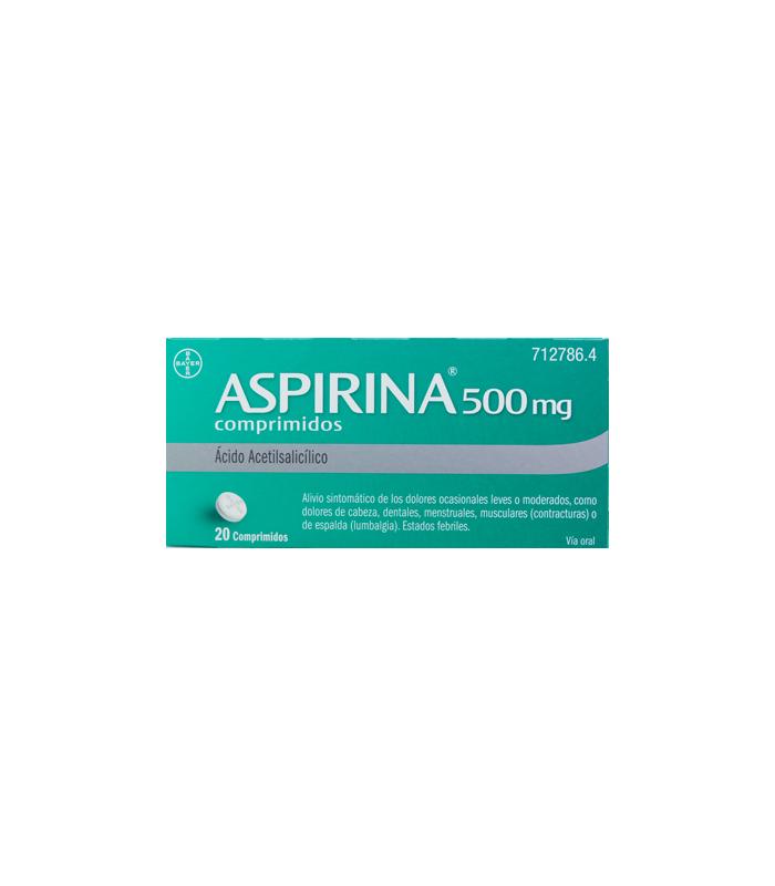 MEDICAMENTOS ONLINE - ASPIRINA 500 MG 20 COMPRIMIDOS -