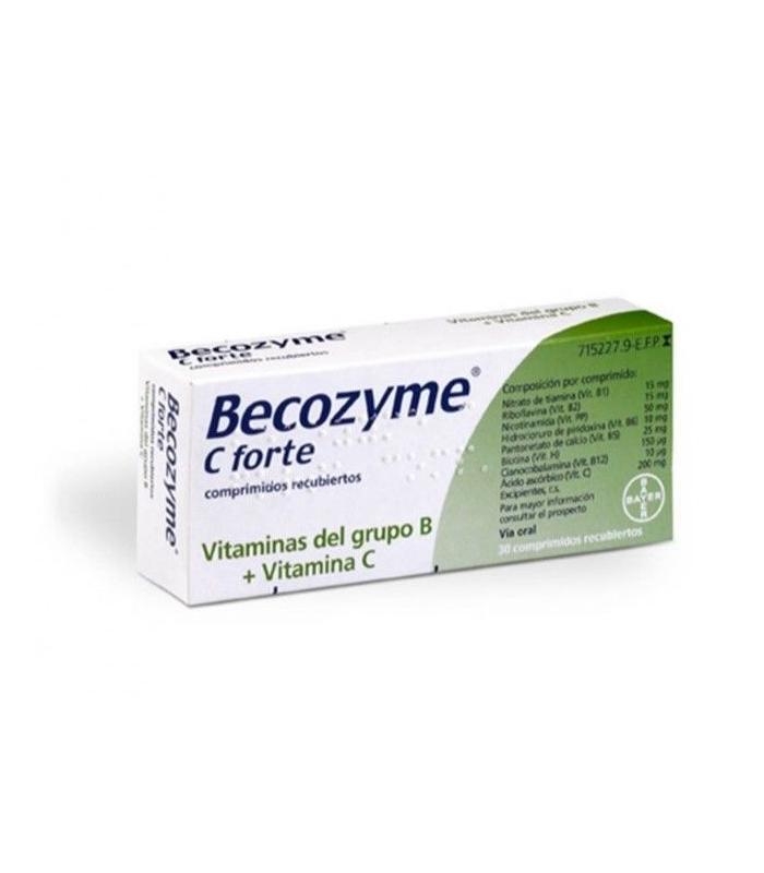 MEDICAMENTOS ONLINE - BECOZYME C FORTE 30 COMPRIMIDOS RECUBIERTOS -
